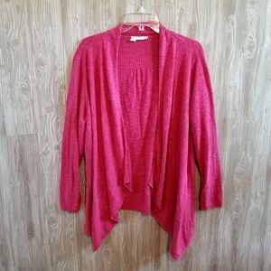 Eileen Fisher Woman Pink Drape Front Cardigan 196